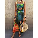baratos Perucas de Cabelo Natural-Mulheres balanço Vestido Com Alças Médio