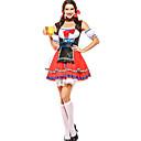 Χαμηλού Κόστους Βρύσες Νιπτήρα Μπάνιου-Oktoberfest Σύνολα Dirndl Trachtenkleider Γυναικεία Φόρεμα Μανίκια Ποδιά βαυάρος Στολές Ρουμπίνι / Φιόγκος / Φιόγκος