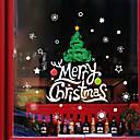 Χαμηλού Κόστους Christmas Stickers-Window Film & αυτοκόλλητα Διακόσμηση Με Μοτίβο / Χριστούγεννα Γεωμετρικό / Χαρακτήρας PVC Αυτοκόλλητο παραθύρου