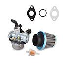 billiga Motorcykel och ATV-delar-70cc 90cc 110cc pz19 kolhydratförgasare med kabel choke & luftfilter för terrängmotorcykel