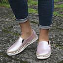 billige Mote Boots-Dame Flate sko Flat hæl PU Vår & Vinter Svart / Leopard / Rosa