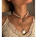 Χαμηλού Κόστους Μοδάτο Κολιέ-Γυναικεία Κρεμαστά Κολιέ Κρεμαστό πολυεπίπεδη Κολιέ Etnic Μοντέρνα Χρώμιο Χρυσό 31 cm Κολιέ Κοσμήματα 1pc Για Δώρο Καθημερινά Απόκριες Αργίες Φεστιβάλ