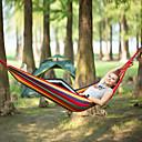 Χαμηλού Κόστους Έπιπλα Κατασκήνωσης-Κούνια κάμπινγκ Εξωτερική Φορητό Αναπνέει Πολύ Ελαφρύ (UL) Καμβάς για 1 άτομο Πεζοπορία Παραλία Κατασκήνωση Ριγέ - Κόκκινο Μπλε 195*80 cm