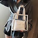 ราคาถูก กระเป๋า Totes-สำหรับผู้หญิง ซิป พีวีซี กระเป๋าถือยอดนิยม สีทึบ สีแดงชมพู / ผ้าขนสัตว์สีธรรมชาติ / สีเขียวอ่อน
