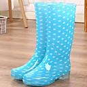 olcso Női szandálok-Női Csizmák Esőcsizmák Alacsony PVC Magas szárú csizmák Tavasz Kék / Rózsaszín