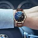 ราคาถูก รองเท้าและอุปกรณ์เสริม-สำหรับผู้ชาย นาฬิกาแนวสปอร์ต นาฬิกาอิเล็กทรอนิกส์ (Quartz) หนัง ดำ 30 m โครโนกราฟ Creative เรืองแสง ระบบอนาล็อก วิบวับ ไม่เป็นทางการ - Black / Gold Black / Silver Black / Rose Gold / สองปี