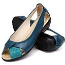 ราคาถูก รองเท้าส้นเตี้ยผู้หญิง-สำหรับผู้หญิง รองเท้าส้นเตี้ย ส้นแบน ที่สวมนิ้วเท้า หนังสัตว์ ฤดูร้อน สีดำ / อูฐ / ขาว