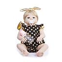Χαμηλού Κόστους Κούκλες σαν αληθινές-Κούκλες σαν αληθινές Μωρά Κορίτσια 22 inch Σιλικόνη πλήρους σώματος - Παιδικό / Εφηβικό Παιδικά Γιούνισεξ Παιχνίδια Δώρο