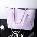 זול תיקי יד-בגדי ריקוד נשים PU תיק יד צבע אחיד שחור / סגול / ורוד מסמיק