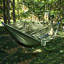 ราคาถูก อุปกรณ์ตกปลา-Camping Hammock with Mosquito Net กลางแจ้ง Portable Lightweight Anti-Mosquito ร่มชูชีพไนล่อน กับคาราบิเนอร์และสายต้นไม้ สำหรับ 2 คน ชายหาด แคมป์ปิ้ง แคมป์ปิ้ง / การปีนเขา / เที่ยวถ้ำ