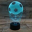 billige 3D Nattlamper-1pc 3D nattlys Usb Kreativ <=36 V