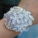 ราคาถูก ดอกไม้งานแต่งงาน-ดอกไม้สำหรับงานแต่งงาน ช่อดอกไม้ข้อมือ งานแต่งงาน แพรต่วน / ลูกไม้ / อลูมิเนียมแมกนีเซียมอัลลอย 0-10 ซม.