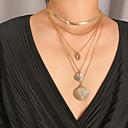 Χαμηλού Κόστους Μοδάτο Κολιέ-Γυναικεία Κρεμαστά Κολιέ Κρεμαστό πολυεπίπεδη Κολιέ Μοντέρνο Μοντέρνα Χρώμιο Χρυσό Ασημί 30 cm Κολιέ Κοσμήματα 1pc Για Δώρο Καθημερινά Απόκριες Αργίες Φεστιβάλ