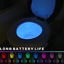Χαμηλού Κόστους θεμέλιο-1set Φως τουαλέτας Πολύχρωμα Μπαταρίες AAA Powered Αλλάζει Χρώμα / Ανιχνευτής ανθρώπινου σώματος 4.5 V