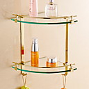 billige Baderomshyller-Hylle til badeværelset Kreativ Moderne Messing / glass 1pc - Baderom Vægmonteret
