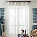 billige Gjennomsiktige gardiner-Ren To paneler Ren Stue   Curtains