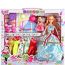 זול מחזיקי נייר טואלט-צעצוע Playsets חצאית הנסיכה דמויות מסרטים מצוירים חמוד מְעוּדָן פלסטיק רך פלנל בגדי ריקוד ילדים כל צעצועים מתנות 2 pcs