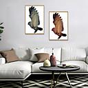 Χαμηλού Κόστους Εκτυπώσεις σε Κορνίζα-Εκτύπωση Τέχνης σε Κορνίζα Σετ σε Κορνίζα - Τοπίο Ζώα Πολυστυρένιο Εικόνα Wall Art