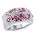 זול שעונים-בגדי ריקוד נשים טבעת הצהרה טבעת זירקונה מעוקבת 1pc ורד אבני חן וקריסטל נחושת Geometric Shape מסוגנן פשוט Party מתנה תכשיטים קלאסי פרח מגניב