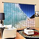 Χαμηλού Κόστους LED Φωτολωρίδες-3d ιδιωτικότητα εκτύπωσης δύο πάνελ πολυέστερ κουρτίνα για υπαίθριο σαλόνι διακοσμητικά αδιάβροχο από σκόνη υψηλής ποιότητας κουρτίνες με όμορφο κύμα