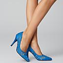 baratos Sapatos de Salto-Mulheres Renda Primavera & Outono Doce Saltos Salto Agulha Dedo Apontado Fúcsia / Cinzento Claro / Azul Real / Casamento