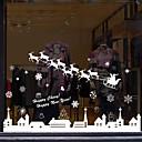 Χαμηλού Κόστους Christmas Stickers-Window Film & αυτοκόλλητα Διακόσμηση Με Μοτίβο / Χριστούγεννα Γεωμετρικό / Χαρακτήρας PVC Αυτοκόλλητο παραθύρου / Αστείος