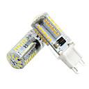 baratos Bases & Conectores para Lâmpadas-2pcs 3 W Luminárias de LED  Duplo-Pin 300 lm G9 T 57 Contas LED SMD 3014 Novo Design Branco Quente Branco 12 V