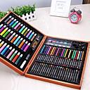 billige Kjøkkenverktøy Tilbehør-109pcs deluxe fet farget blyant maleri tegning kunst forsyninger for skrive tegning satt for barn med plast tilfelle lykkelig gave til barn julegave