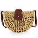 Χαμηλού Κόστους Τσάντες χιαστί-Γυναικεία Άχυρο Σταυρωτή τσάντα Συμπαγές Χρώμα Μπεζ / Καφέ / Φθινόπωρο & Χειμώνας