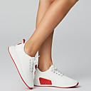 ราคาถูก รองเท้ากีฬาสำหรับสตรี-สำหรับผู้หญิง รองเท้าผ้าใบ ตาข่ายระบายอากาศ / PU ความสะดวกสบาย ฤดูใบไม้ผลิ / ตก ขาว / สีดำ / สีชมพู / EU39