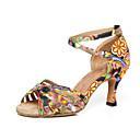 olcso Latin cipők-Női Dance Shoes Szatén Latin cipők Magassarkúk Kúpsarok Sárga / Kék / Teljesítmény / Gyakorlat