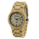 ราคาถูก นาฬิกาข้อมือแฟชั่น-นาฬิกาตกแต่งข้อมือ ไม้ ระบบอนาล็อก ไม้มะเกลือ เมเปิ้ล