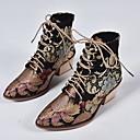 billige Mote Boots-Dame Støvler Trykk sko Tykk hæl Spisstå PU Ankelstøvler Sommer Svart