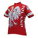 זול חולצות רכיבת אופניים-21Grams Eagle פולין דגל לאומי בגדי ריקוד גברים שרוולים קצרים חולצת ג'רסי לרכיבה - אדום אופניים ג'רזי צמרות נושם פתילת לחות ייבוש מהיר ספורט טרילן רכיבת הרים רכיבת כביש ביגוד / מיקרו-אלסטי
