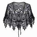 Χαμηλού Κόστους Στολές της παλιάς εποχής-The Great Gatsby Τσάρλεστον 1920s Φανελάκι φόρεμα Κοστούμι πάρτι Γυναικεία Πούλιες Στολές Μαύρο / Μαύρο+ Χρυσό / Μαύρο+Ασημί Πεπαλαιωμένο Cosplay Πάρτι Χοροεσπερίδα Κοντομάνικο / Σάλι / Φόρεμα / Σάλι
