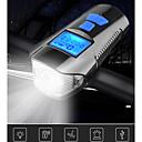 baratos Luzes de Bicicleta & Refletores-LED Luzes de Bicicleta Luz Frontal para Bicicleta Lanterna com Buzina para Bicicleta Velocímetro Moto Ciclismo Impermeável 3 em 1 Múltiplos Modos Indução inteligente 350 lm Recarregável USB Branco