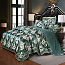 billige 3D gardiner-europeisk sateng jacquard blonder ark 4 stk sengetøy sett