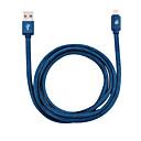 baratos Kits & Paletas para os Olhos-d8 mfi cabo relâmpago micro usb / relâmpago cabo 1 m (3ft) pu cabo de carregamento cabo de dados cabo de carga rápida para iphone / ipad / ipod