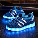 זול LED Shoes-בנים / בנות נעליים זוהרות דמוי עור / Flyknit נעלי ספורט ילדים קטנים (4-7) / ילדים גדולים (7 שנים +) הליכה LED ירוק / כחול / ורוד אביב / קיץ / גומי