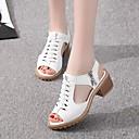 ราคาถูก รองเท้าแตะผู้หญิง-สำหรับผู้หญิง รองเท้าแตะ ส้นหนา ที่สวมนิ้วเท้า PU คลาสสิก วสำหรับเดิน ฤดูร้อนฤดูใบไม้ผลิ / ฤดูใบไม้ร่วง & ฤดูหนาว สีดำ / ขาว / ผ้าขนสัตว์สีธรรมชาติ
