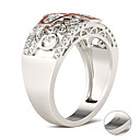 billige Graverte Ringer-personlig tilpasset Blå Kubisk Zirkonium Ring Klassisk Gave Love Festival Geometrisk Form 1pcs Sølv