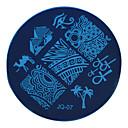 Χαμηλού Κόστους Κραγιόν-1 pcs Stamper & Scraper Πρότυπο Σειρά Τοτέμ Ασφάλεια / Αφαιρούμενο / Δημιουργικό τέχνη νυχιών Μανικιούρ Πεντικιούρ Στυλάτο / Βασικό Ειδική Περίσταση / Καθημερινά