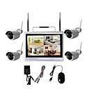 Χαμηλού Κόστους LED Φωτολωρίδες-4ch 12 lcd οθόνης home monitor ασύρματο σύστημα παρακολούθησης ασφαλείας nvr kit