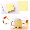 billige Kontor Nødvendigheter-klebrig notater 3x3 selvklebende notater gul farge 1 pads 100 ark / pute polystyren jordgult