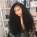 ราคาถูก วิกผมจริง-ผม Remy เต็มไปด้วยลูกไม้ มีลูกไม้ด้านหน้า วิก ส่วนด้านข้าง สไตล์ ผมบราซิล Afro Kinky ดำ วิก 130% 150% 180% Hair Density คลาสสิก ผู้หญิง การแต่งกายที่ง่าย ธรรมชาติ สบาย สำหรับผู้หญิง ความยาวระดับกลาง