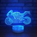 baratos Lâmpadas LED em Forma de Espiga-Locomotiva 3d pequena luz da noite levou candeeiro de mesa colorido presente 3d dia dos namorados criativo usb candeeiro de mesa lâmpadas para crianças