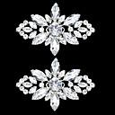 baratos Decorações-1 Peça vidro Acessórios Decorativos Mulheres Todas as Estações Casamento Prata / Pedrarias