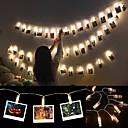 זול חוט נורות לד-6m מחזיק קליפ תמונות הוביל אורות מחרוזת סוללה מופעל חג המולד שנה חדשה צד חתונה רמאדן קישוט פיות אורות