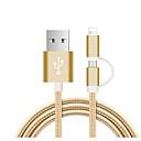 baratos Luzes para Espelho-micro USB / Iluminação Cabo 1.0m (3 pés) Entrançado / 1 a 2 Náilon Adaptador de cabo USB Para iPad / Samsung / Huawei