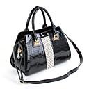 ราคาถูก กระเป๋า Totes-สำหรับผู้หญิง คริสตัล / ซิป Patent Leather กระเป๋าถือยอดนิยม จระเข้ สีดำ / ฤดูใบไม้ร่วง & ฤดูหนาว